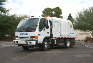 Agua Trucks Power Sweeping Truck